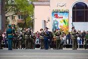 Грандиозный парад в честь Великой Победы прошел в Уссурийске