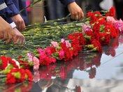 Церемония возложения венков, цветов, посвященная окончанию Второй мировой войны