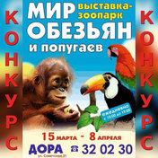 Выиграй пригласительный билет в «Мир обезьян и попугаев»!