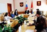 Глава администрации УГО Евгений Корж провел брифинг для средств массовой информации