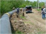 Работы по прокладке газопровода ведутся в районе Междуречья