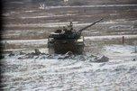 Армейские соревнования по танковому биатлону прошли на полигоне «Сергеевский»