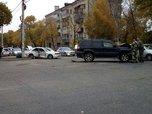 ДТП с участием трех автомобилей произошло в Уссурийске. Фото