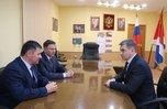 Андрей Тарасенко провел рабочую встречу с главой Уссурийска