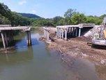 В селе Кондратеновка начался ремонт аварийного моста