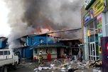 В Уссурийске опять горел китайский рынок