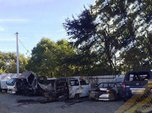 В Уссурийске на автостоянке сгорели шесть автомобилей