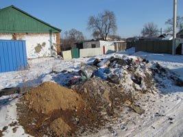 Помойка выросла в центре Уссурийска
