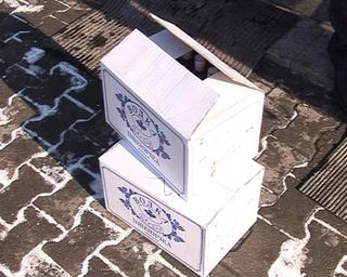 Кросс с двумя ящиками водки оказался вору не по силам