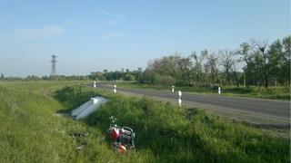 Водитель мотоцикла улетел в кювет на трассе Уссурийск – Пограничный