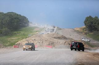 Водители советуют не соваться на ремонтируемую трассу