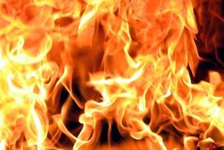 Вагончик горел в Уссурийске