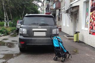 Водитель Nissan Patrol чуть не задавил маленьких детей в Уссурийске