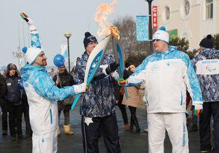 Факелоносцы из Уссурийска приняли участие в эстафете паралимпийского огня