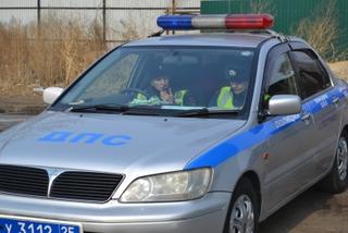 Женский патруль ГИБДД работает в Уссурийске