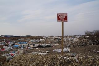 Снежный полигон в Уссурийске горожане превратили в свалку