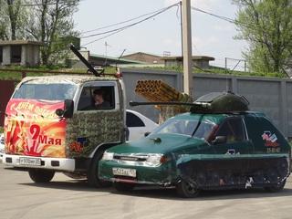 Стритрейсеры из Уссурийска не пощадили своих авто ради празднования Дня Победы