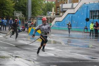 Пожарные из Уссурийска заняли 2 место на Чемпионате Приморского края по пожарно-прикладному спорту