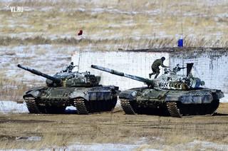 танкисты пятой армии выявили лучших в рамках соревнований «Танковый биатлон-2015»