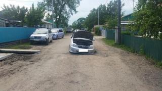 Младенец пострадал из-за ямы на дороге в с. Воздвиженка
