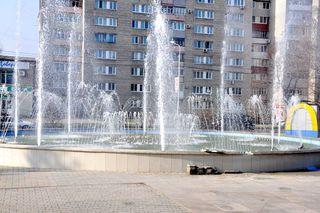 Новый фонтан у МЦКД «Горизонт» протестировали