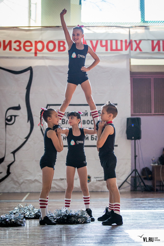 Сильнейшие чирлидеры края сошлись на открытом владивостокском турнире «Снежный барс»