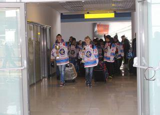 Волонтеры устроили торжественный прием для уссурийских хоккеистов-чемпионов