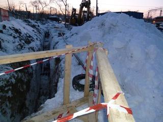 Продолжаются работы по строительству газопровода в Уссурийске