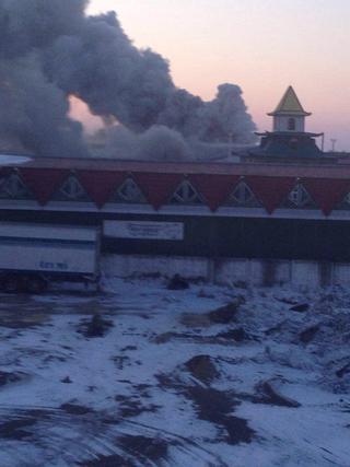 На оптовом овощном складе «Дружба» в Уссурийске произошел пожар