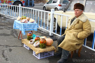 Продовольственная ярмарка начала свою работу на центральной площади Уссурийска