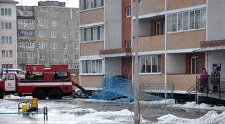 Придомовая территория на ул. Новоникольский проезд, 10-а практически полностью освобождена от воды