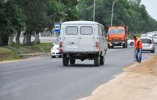 Работы по восстановлению дорожного полотна продолжаются в Уссурийске