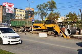 Из-за ремонтных работ движение в районе автовокзала Уссурийска будет затруднено до субботы