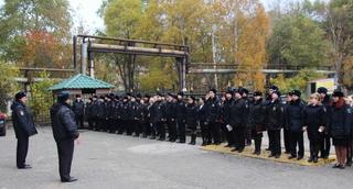 В Уссурийске сотрудники транспортной полиции перешли на зимнюю форму одежды