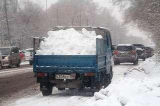 Более 1200 кубометров снега убрано и вывезено за выходные дни в Уссурийске