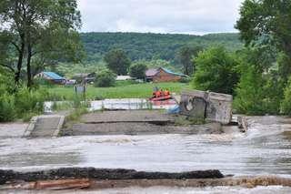 Вода в реке около Кроуновки начала спадать