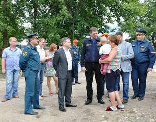 Заместитель министра МЧС Владимир Степанов посетил Уссурийск с рабочим визитом