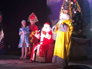 В Уссурийске зажигаются новогодние Ёлки