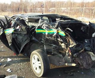 Машину чоповцев разорвало в ДТП в Уссурийске