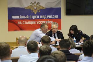 Сотрудники  транспортной полиции на ст.Уссурийск подвели итоги работы за  2017 год