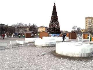 Ледовый городок на центральной площади Уссурийска начнут разбирать уже в понедельник