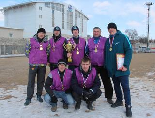 Команда из Уссурийска - победитель зимнего чемпионата по мини-футболу