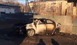 Дорогая иномарка в Приморье сгорела под покровом ночи