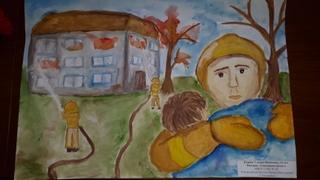 Пожарные Уссурийска наградили победителей конкурса детского творчества «Неопалимая купина»