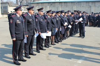 В Отделе МВД России по городу Уссурийску проведен строевой смотр