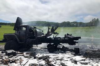 Грузовик со снарядами загорелся на трассе Уссурийск - Пограничный