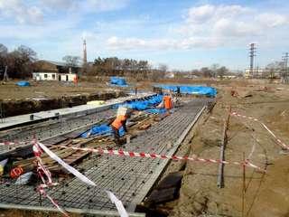 Каркас здания нового ледового дворца начали собирать в Уссурийске