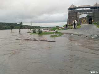 Под Уссурийском затопило парк «Изумрудная долина» и дорогу к селу Утесному