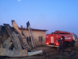 Страшный пожар произошел на свиноферме под Уссурийском