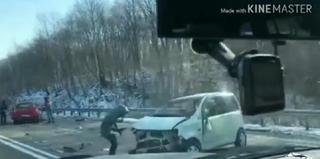 Страшная авария произошла на трассе Владивосток-Уссурийск